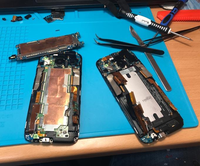 Поправка, ремонт и сервиз на телефони HTC