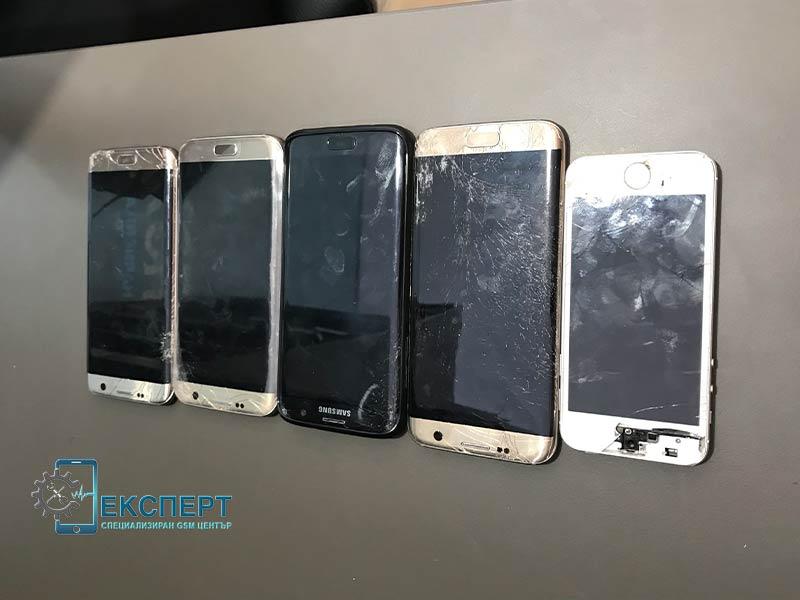 Смяна на счупен дисплей, екран на телефони