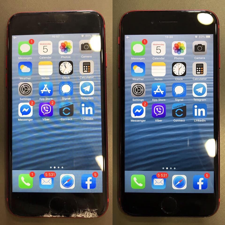 Ремонт на iphone X - преди и след ремонт на айфон Х
