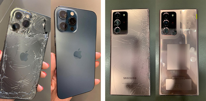Смяна на стъкло на корпус на смартфон